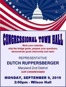 Flyer for Ruppersberger visit